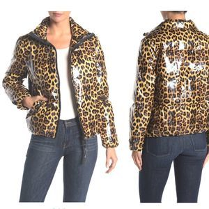Juicy Couture Leopard Glossy Puffer Jacket NEW